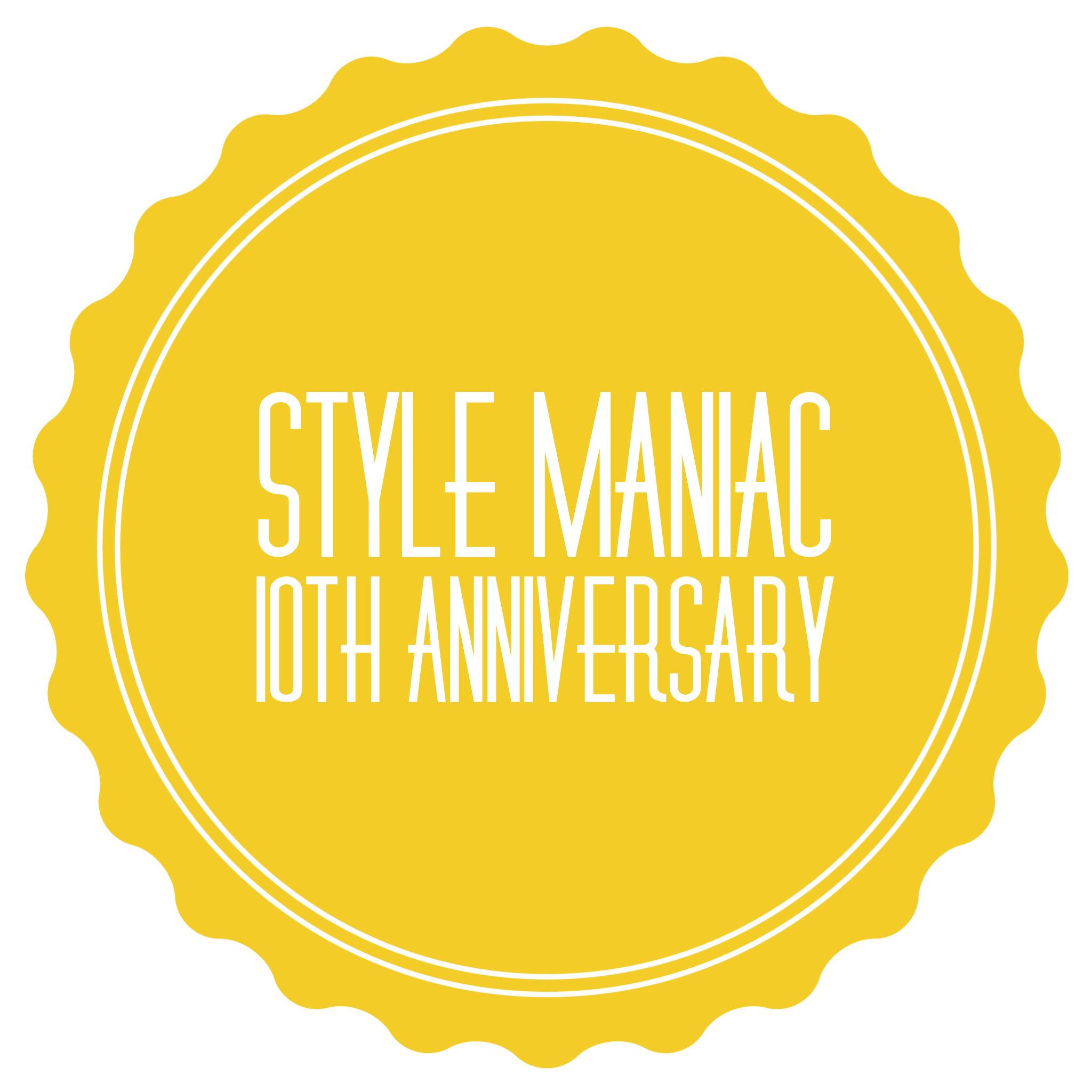 Style Maniac 10th Anniversary badge - yellow.PNG
