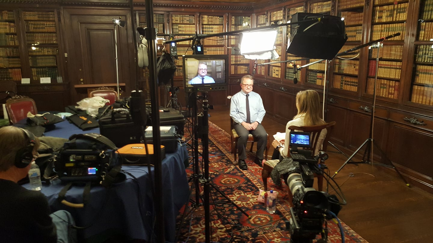 Lighting a two-camera interview with my new  Intellytech FL-80 LED flex lights .