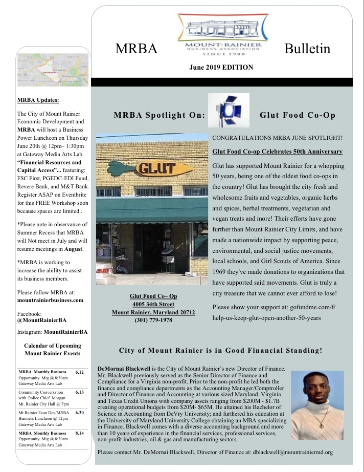 Mrba June 2019 Bulletin newsletter