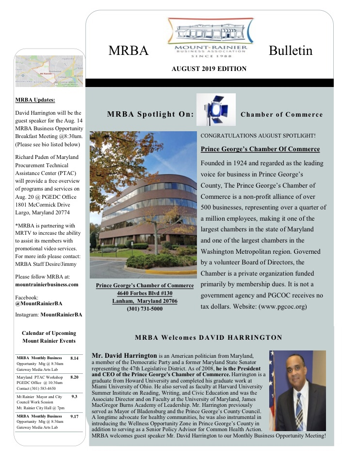 MrBa aigust 2019 newsletter