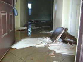 property manager responding to a flood for landlord