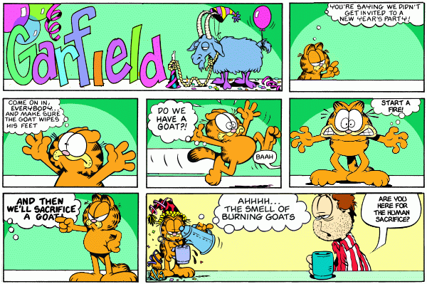Happy new year from urentguide with help from garfield