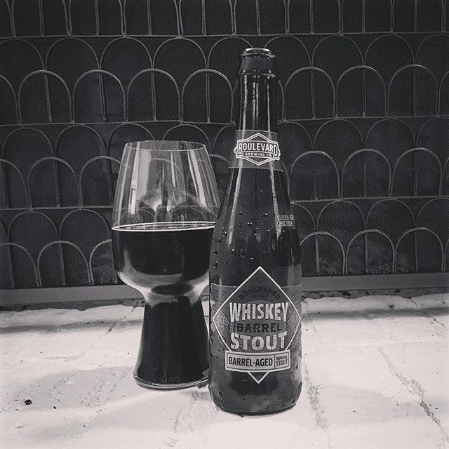 Barrely waiting, Soaking in whiskey and wood, Keeps my belly warm. #boulavardbrewing #whiskeybarrelstout #missouribeer #stout #barrelaged #craftbeer #totalwine #haiku