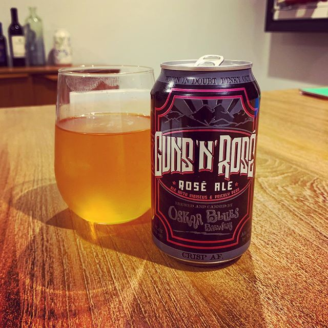 Rock n roll rosé, Not as wild as GNR, That's ok it's good. #oskarblues #gunsandrose #rosé #craftbeer #totalwine #haibru