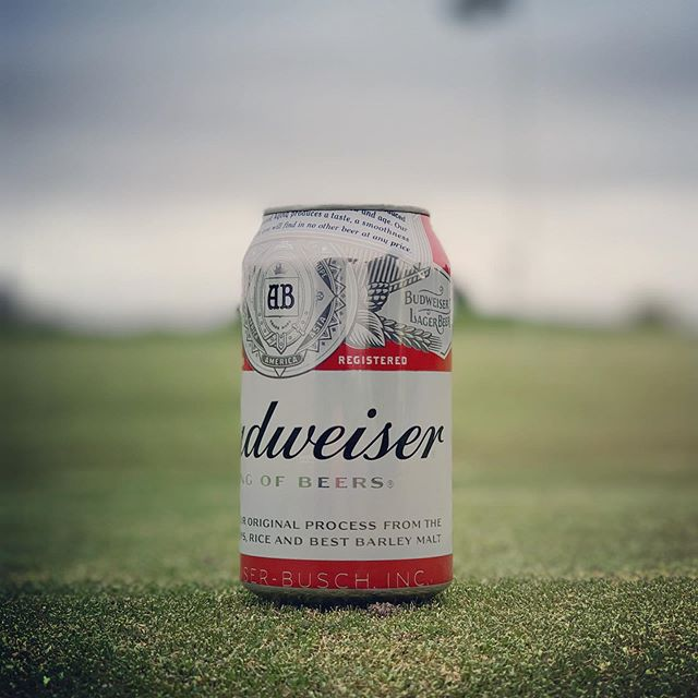 My dad's go-to brew, Played a round for him today, I will miss you Bud. #restinpeacedad #budweiser #golf #haiku