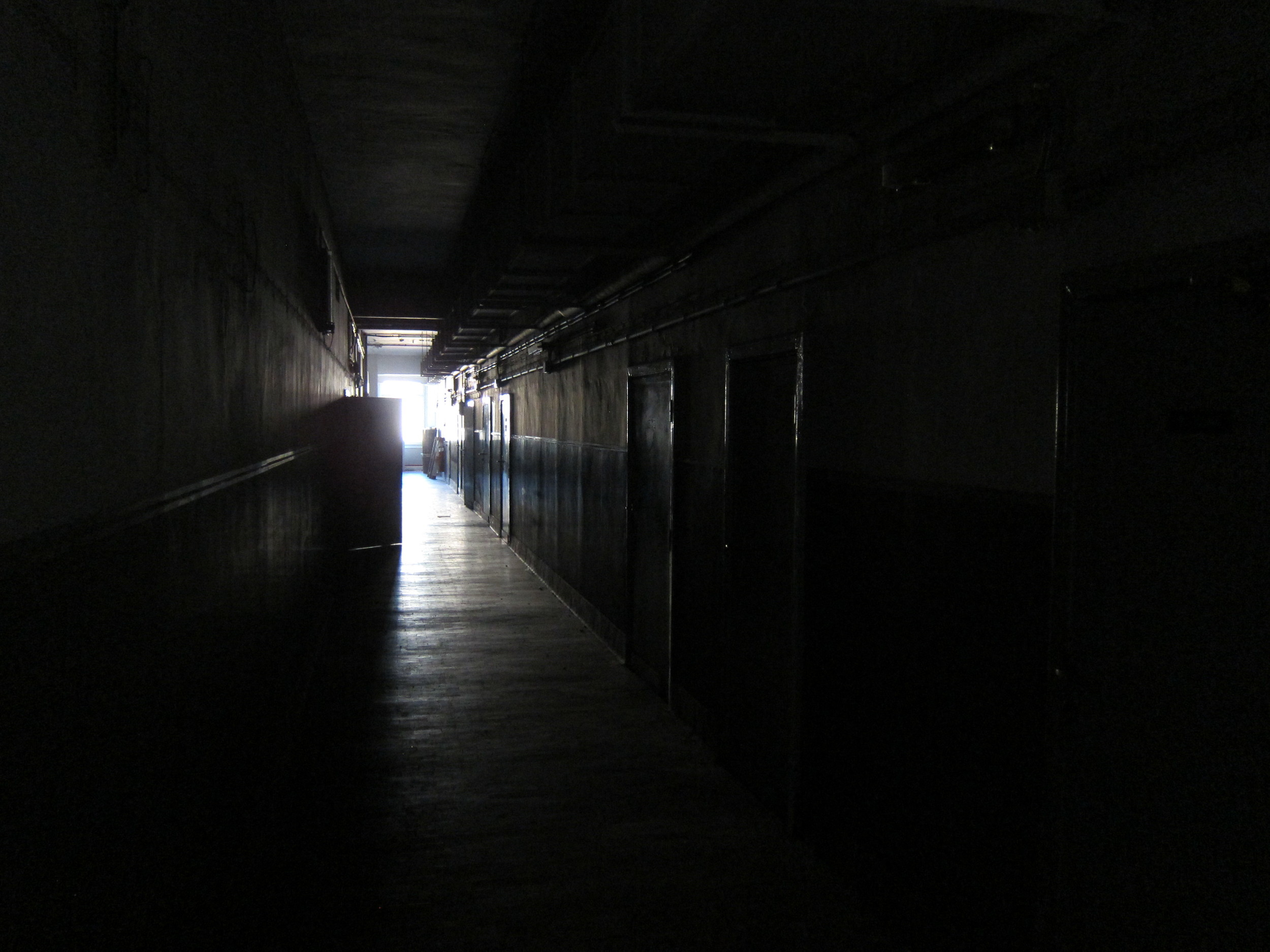 An image from inside the Big Boy building, now empty and awaiting destruction. (Nicola Baldini)