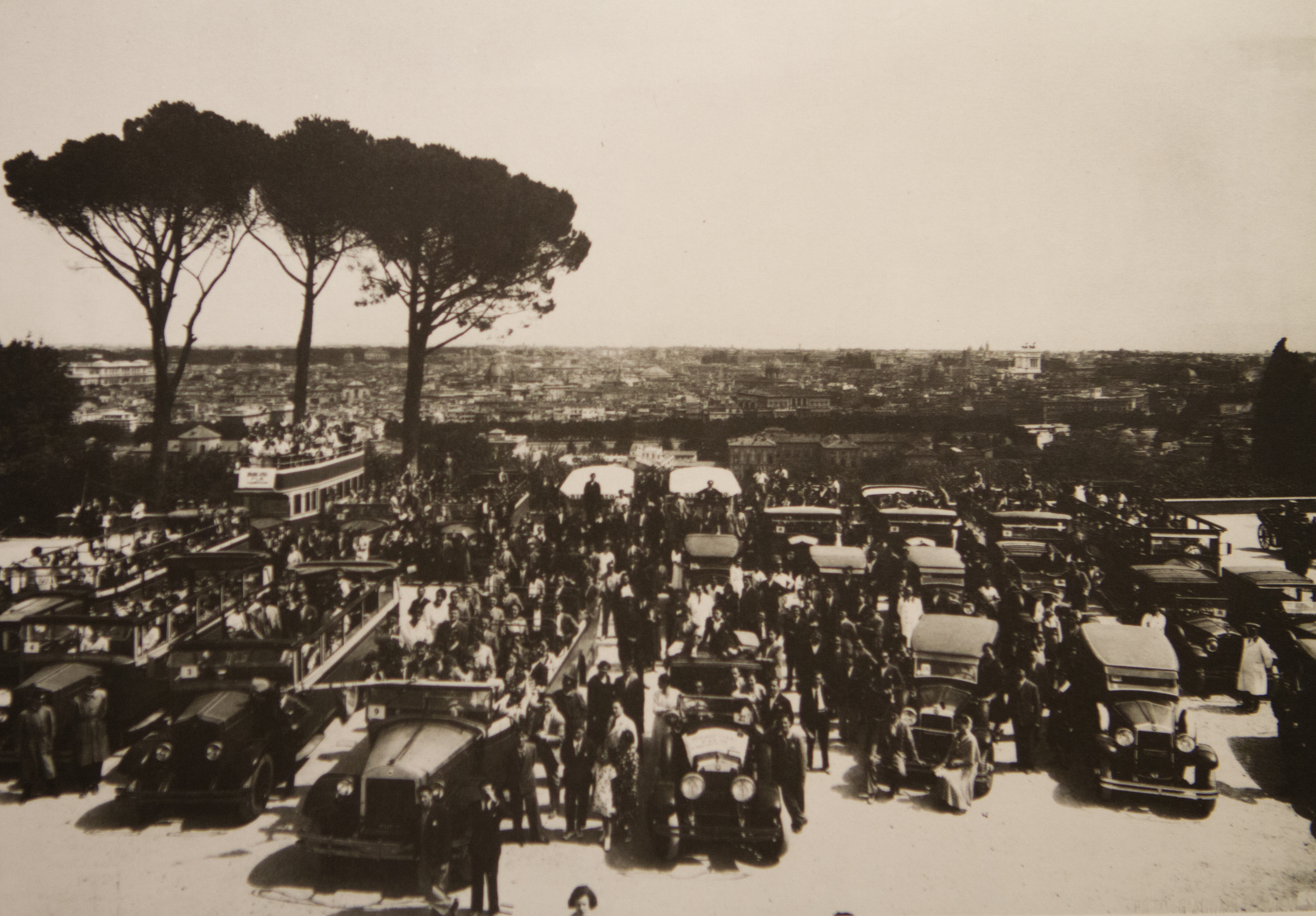 Cars for a FILM employee trip to Rome in 1933