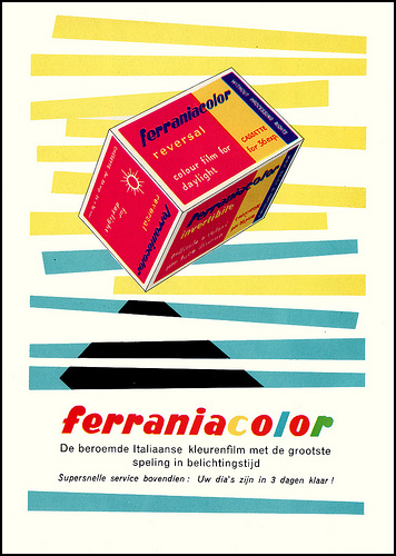 An early Dutch Ferraniacolor advertisement