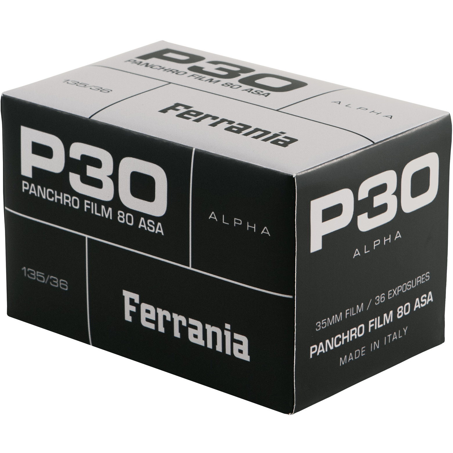 FERRANIA P30® ALPHA pack shot and logos   JPG, PNG and EPS files included