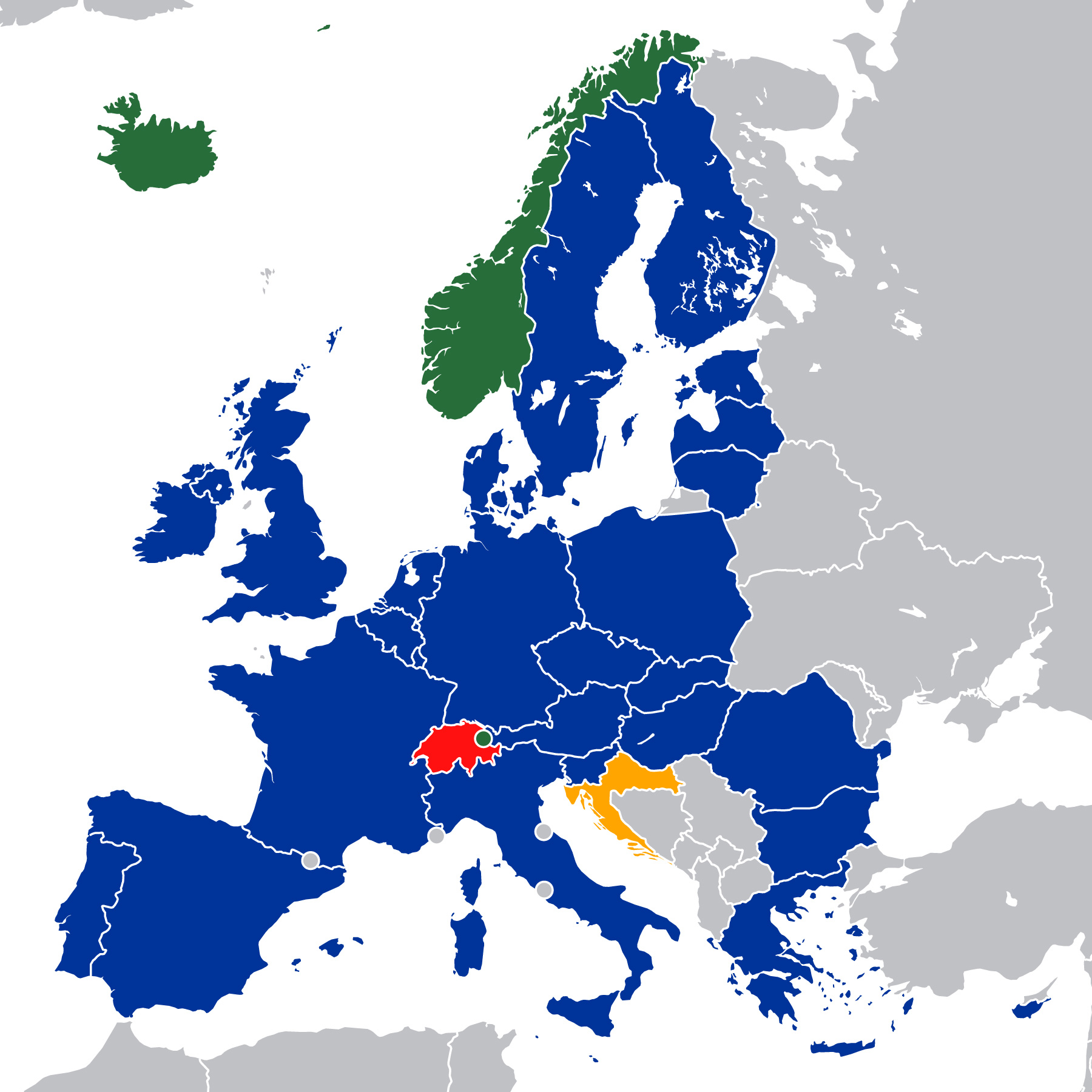 click to enlarge   Credit: By European Economic Area.svg: Kolja21, Fry1989derivative work: Danlaycock - European Economic Area.svg, CC BY-SA 2.5, https://commons.wikimedia.org/w/index.php?curid=32132627