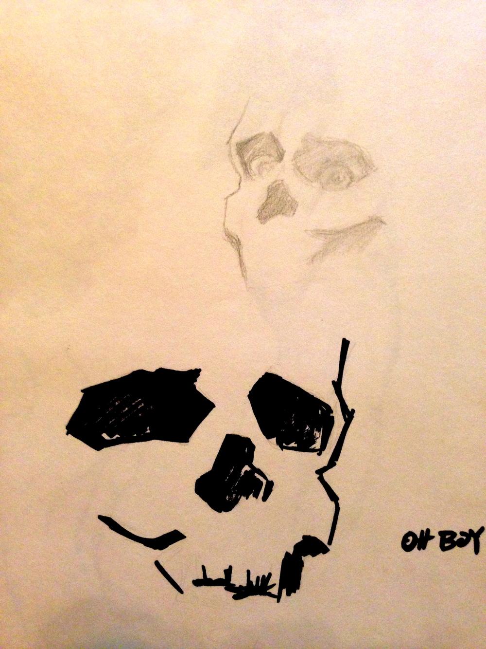Study of Skulls NO. 1