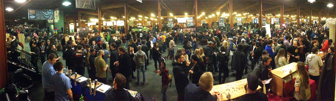 Many happy craft beer loving folk at the Opening Gala in San Francisco.