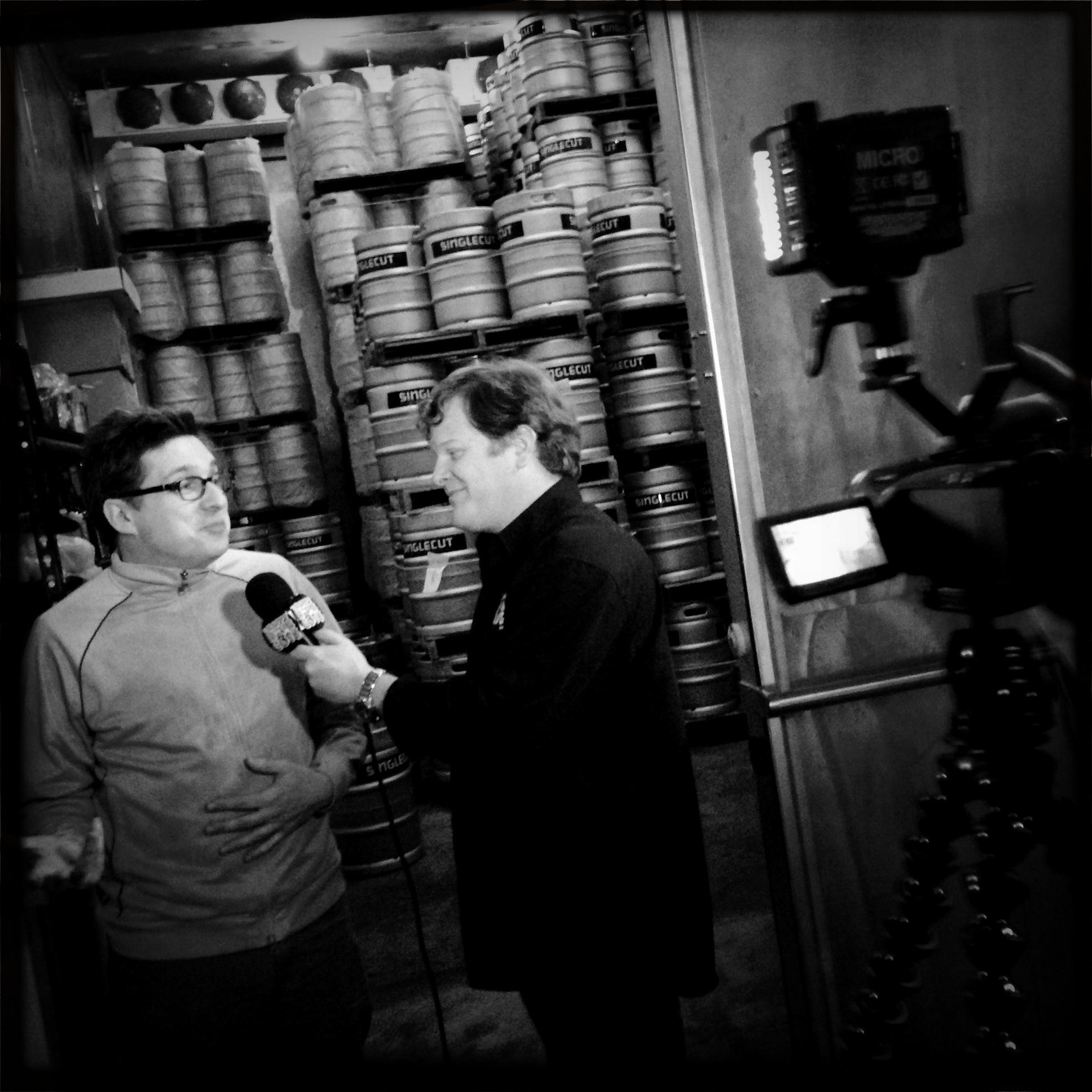 Mark with Rich Buceta at SingleCut Beersmiths.