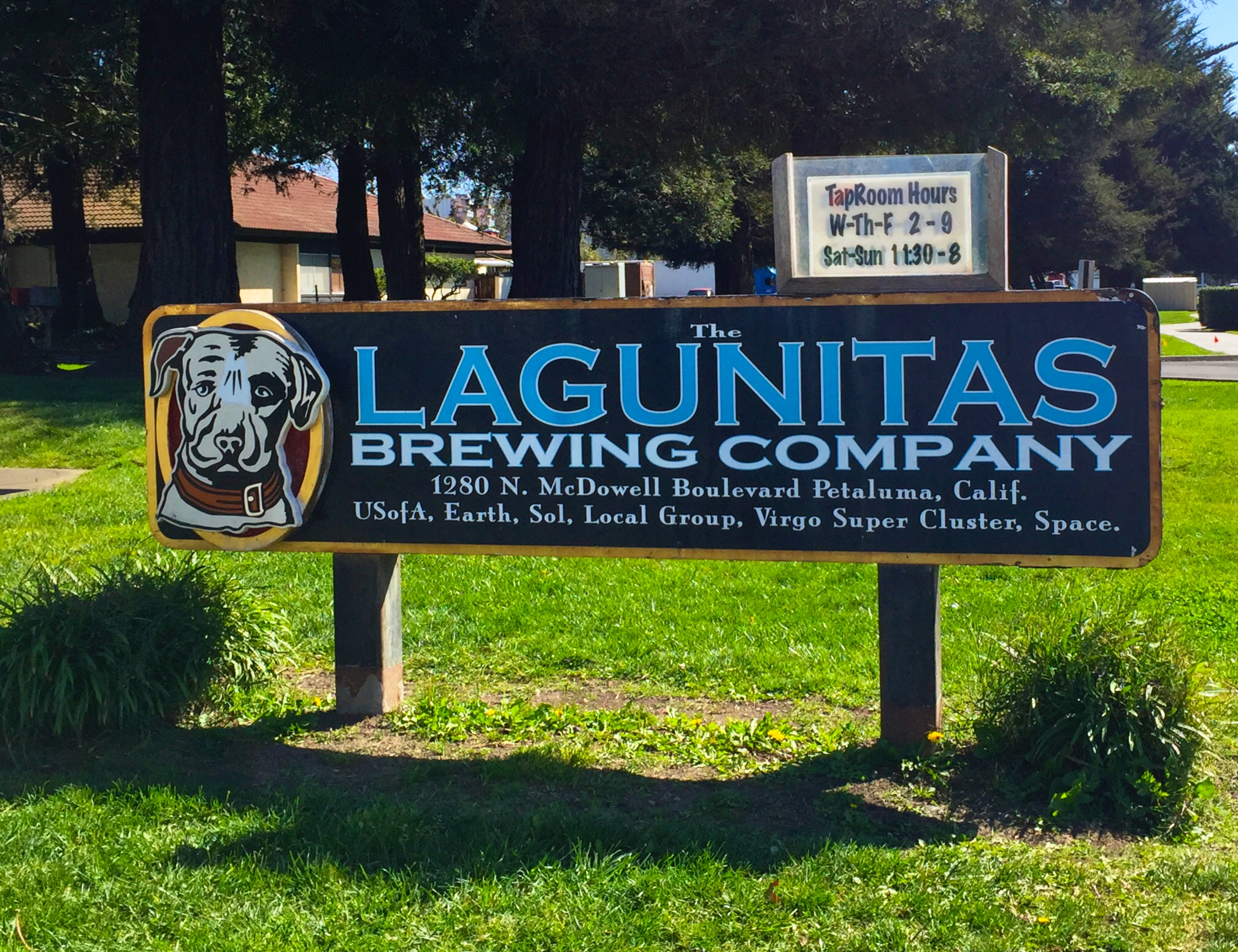 Lagunitas, Petaluma, CA, USA, Earth, Sol, Local Group, Virgo Super Cluster, Space.