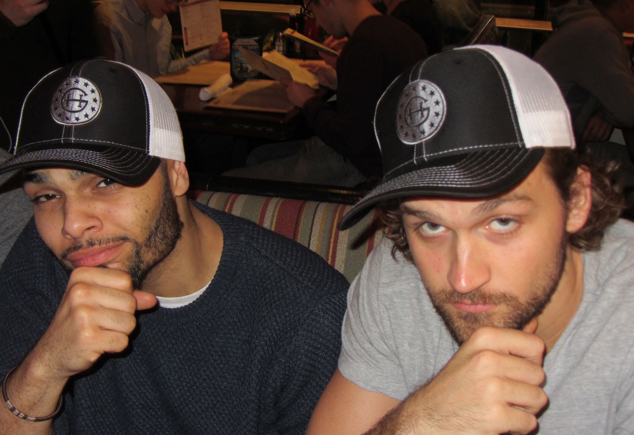 Voltaire Wade-Greene (l) and Neil Haskell (r)