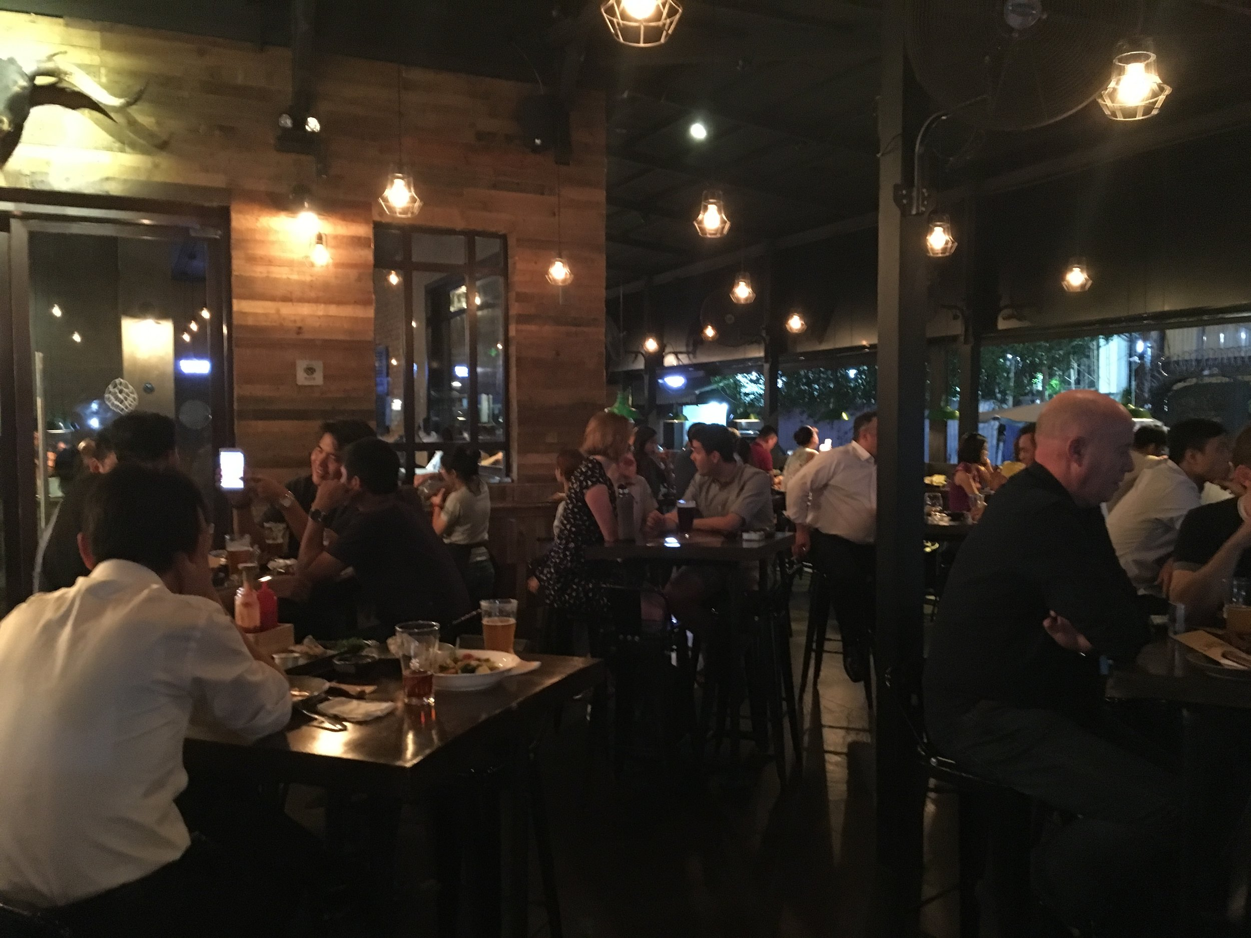 BiaCraft's patrons on a busy Thursday night included many locals.