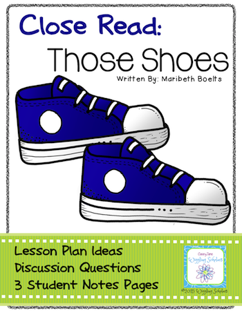Those Shoes Close Read by Wiggling Scholars