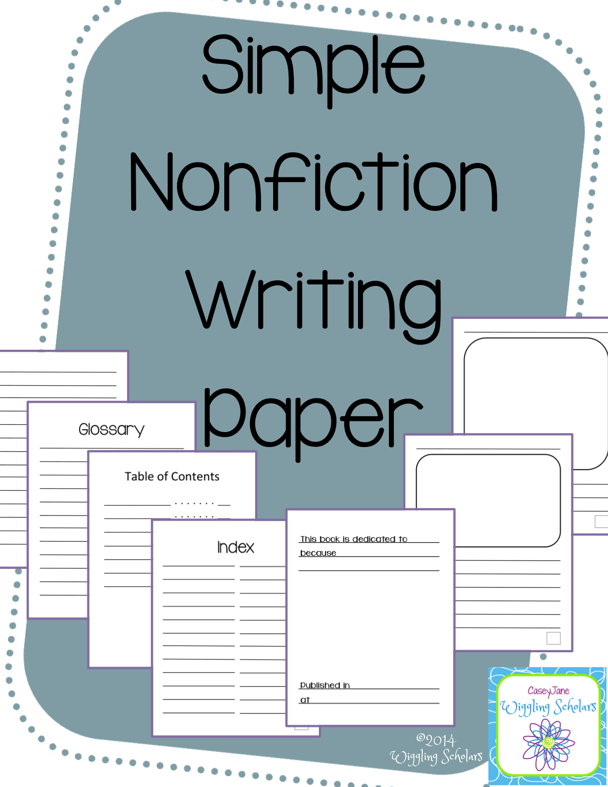 Simple Nonfiction Writing Paper by Wiggling Scholars