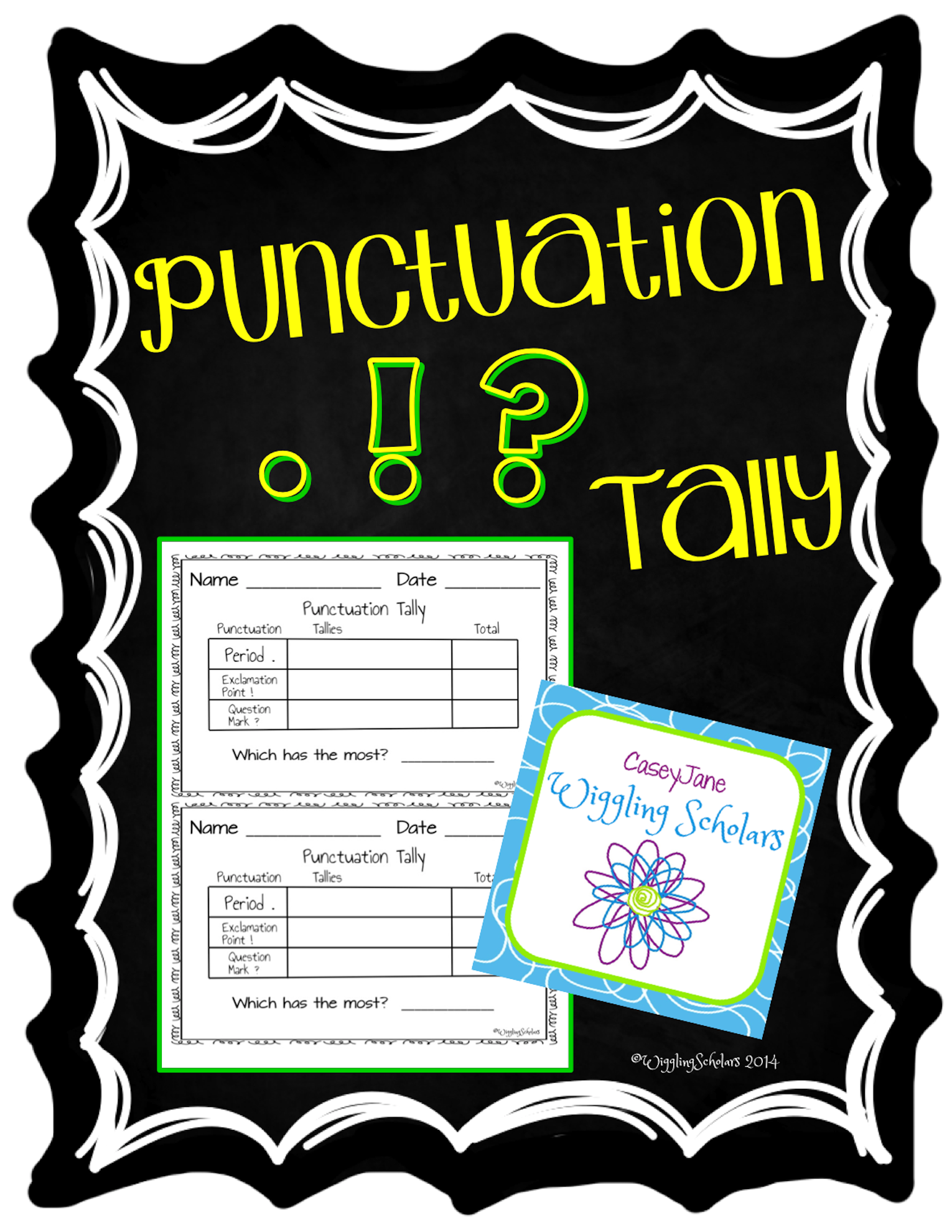 Punctuation Tally Chart by Wiggling Scholars