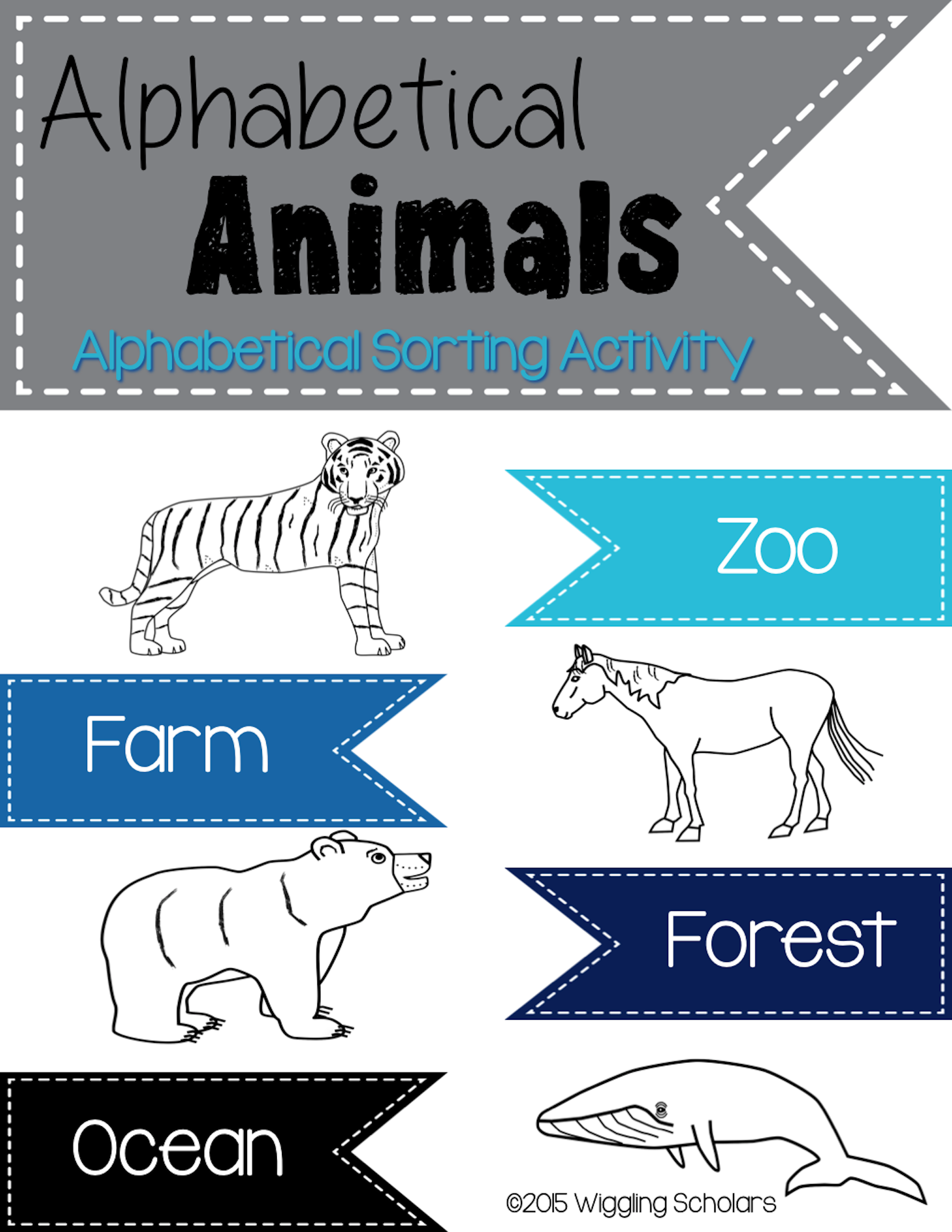 Alphabetical Animal Sort by Wiggling Scholars