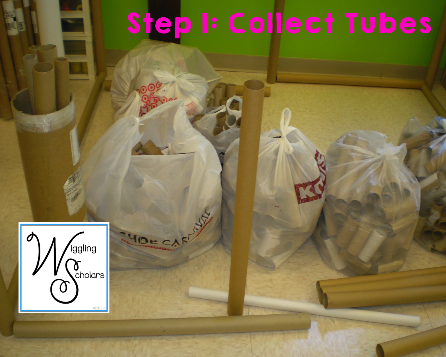 STEM Step 1: Collect Paper Roll Tubes