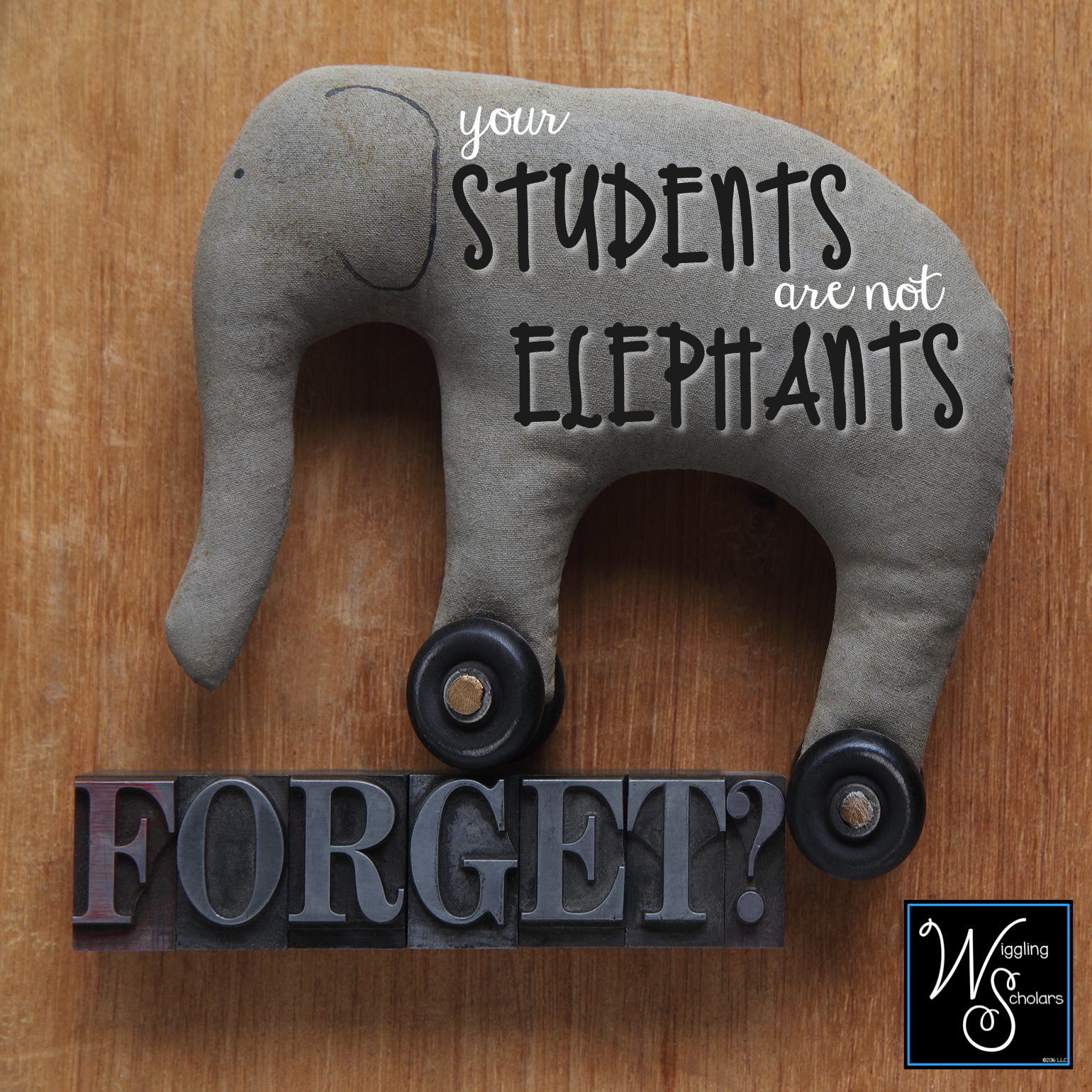 Students aren't Elephants by Wiggling Scholars