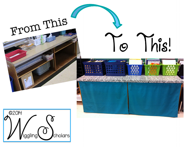 Bookshelf Update with Contact Paper by Wiggling Scholars