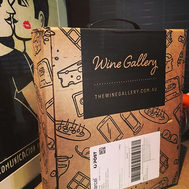 Excited to have received our first box of wine from our mates @the_wine_gallery