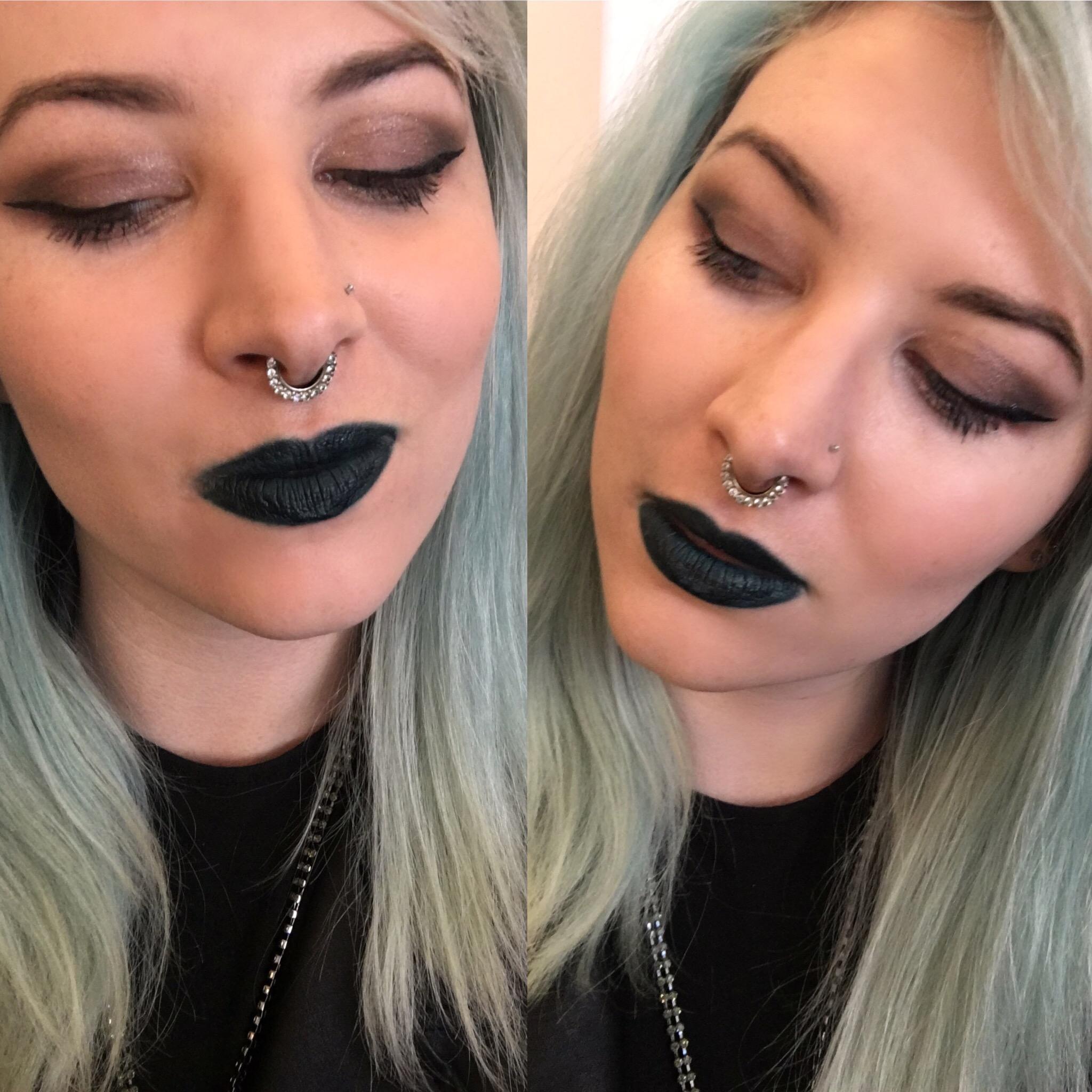 Gunmetal Stack with Kylie Cosmetics Trick Lip Kit