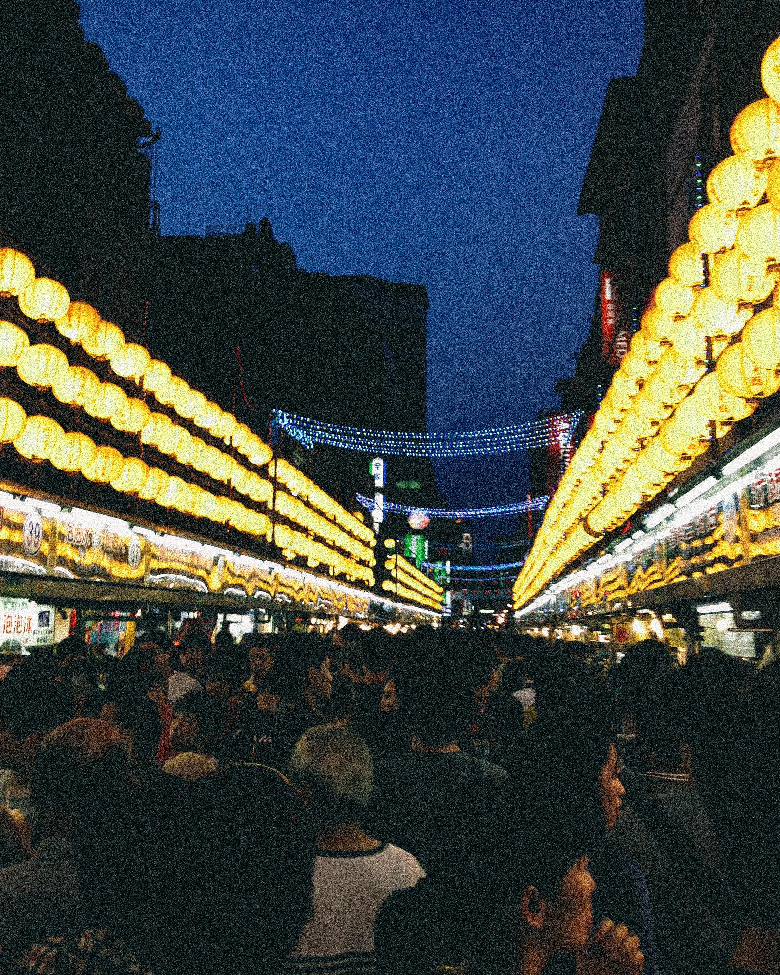 Miaokou Night Market crowds