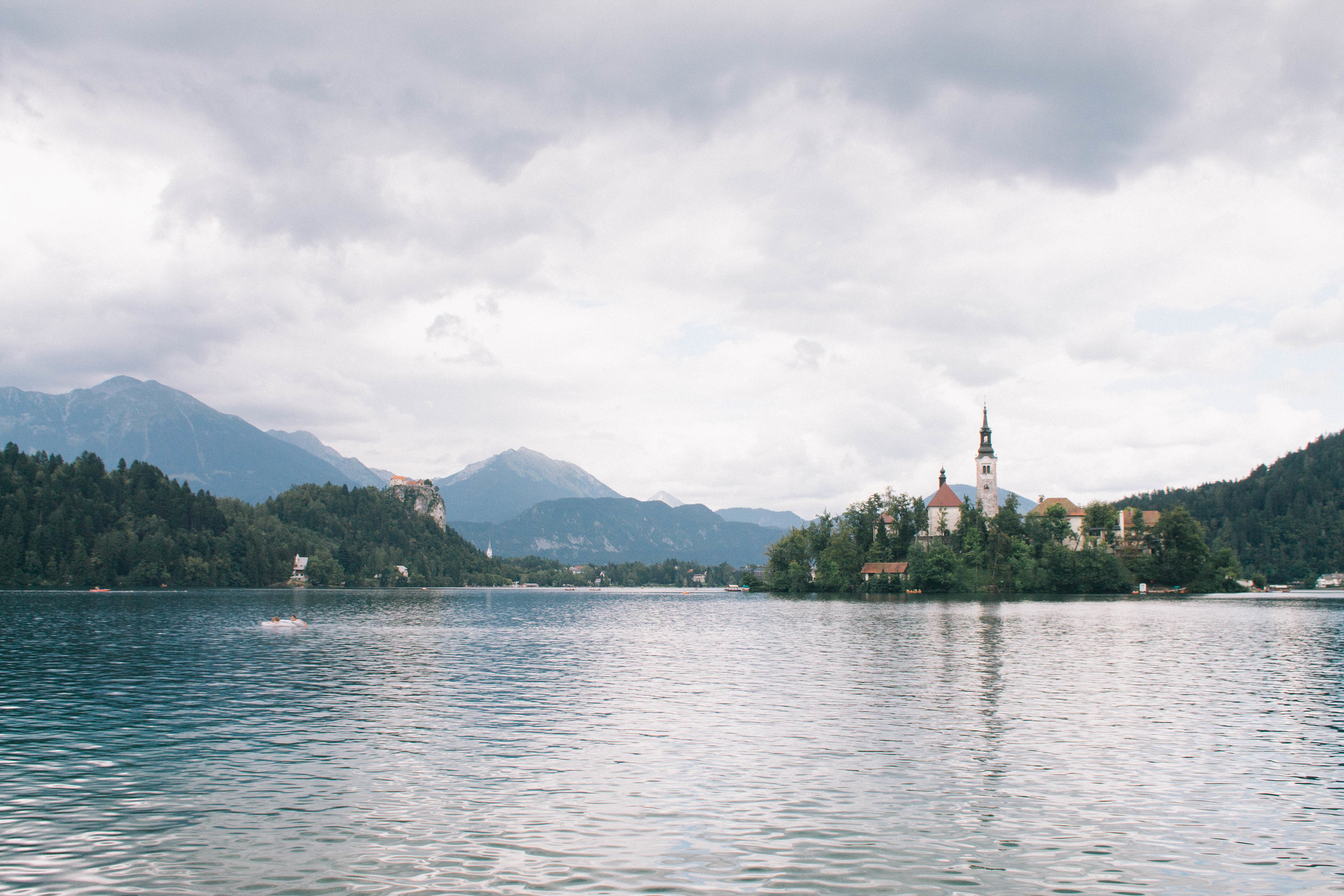 View from Lake Bled, Slovenia