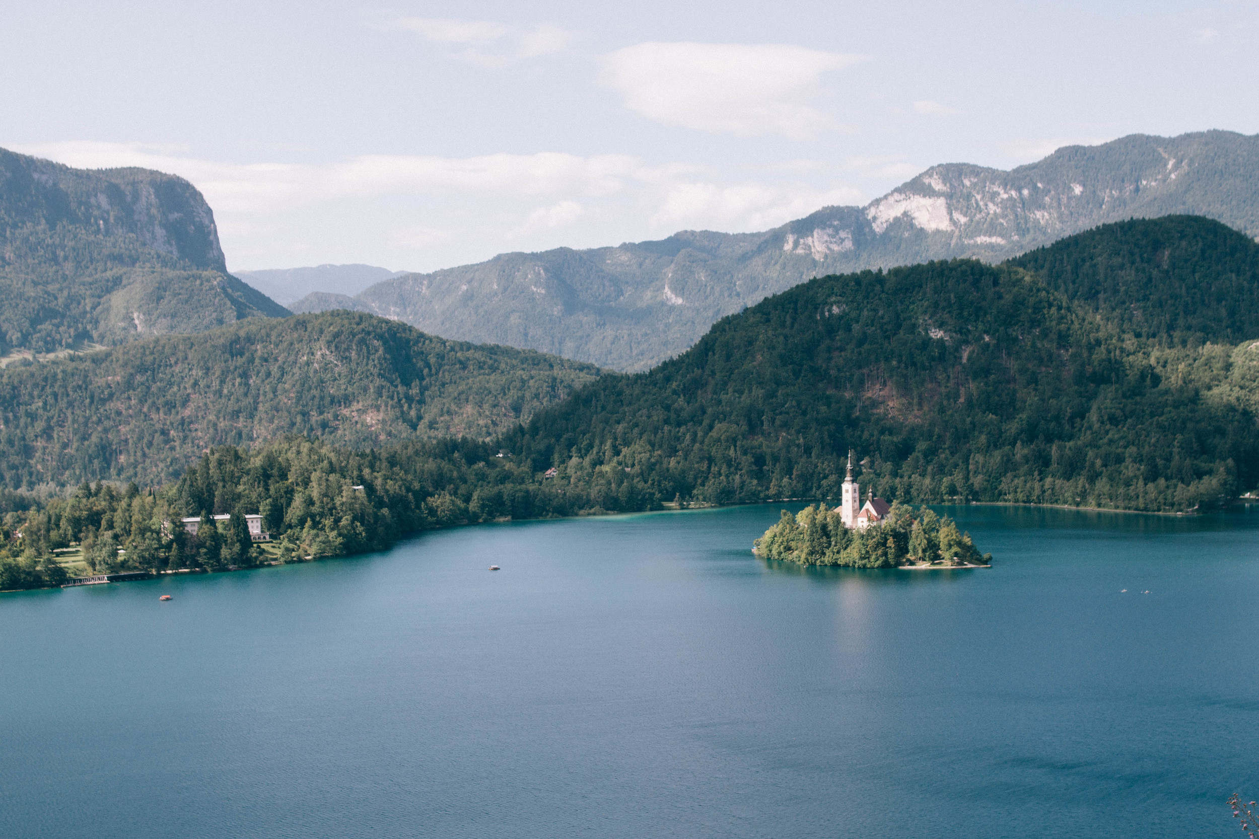 View of Lake Bled from Bled Castle