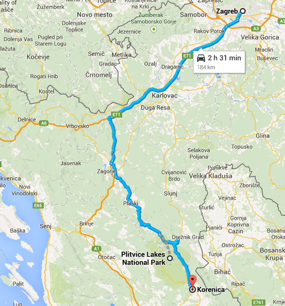 Zagreb to Plitvice Lakes National Park... and how I overshot my bus ride and ended up in Korenica.