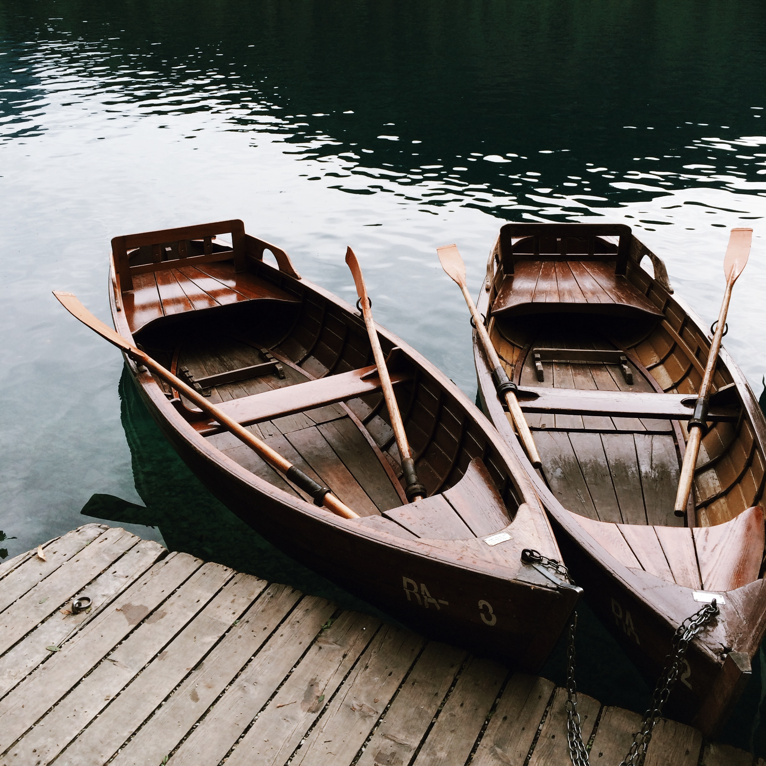 Renting rowboats in Lake Bled, Slovenia