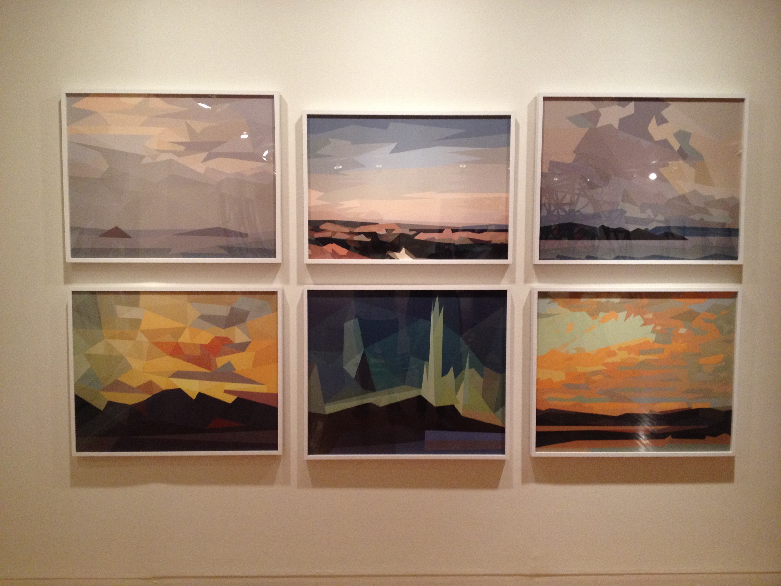 """Coupland's modern interpretation of a series of paintings by famous Canadian impressionists """"The Group of Seven"""""""