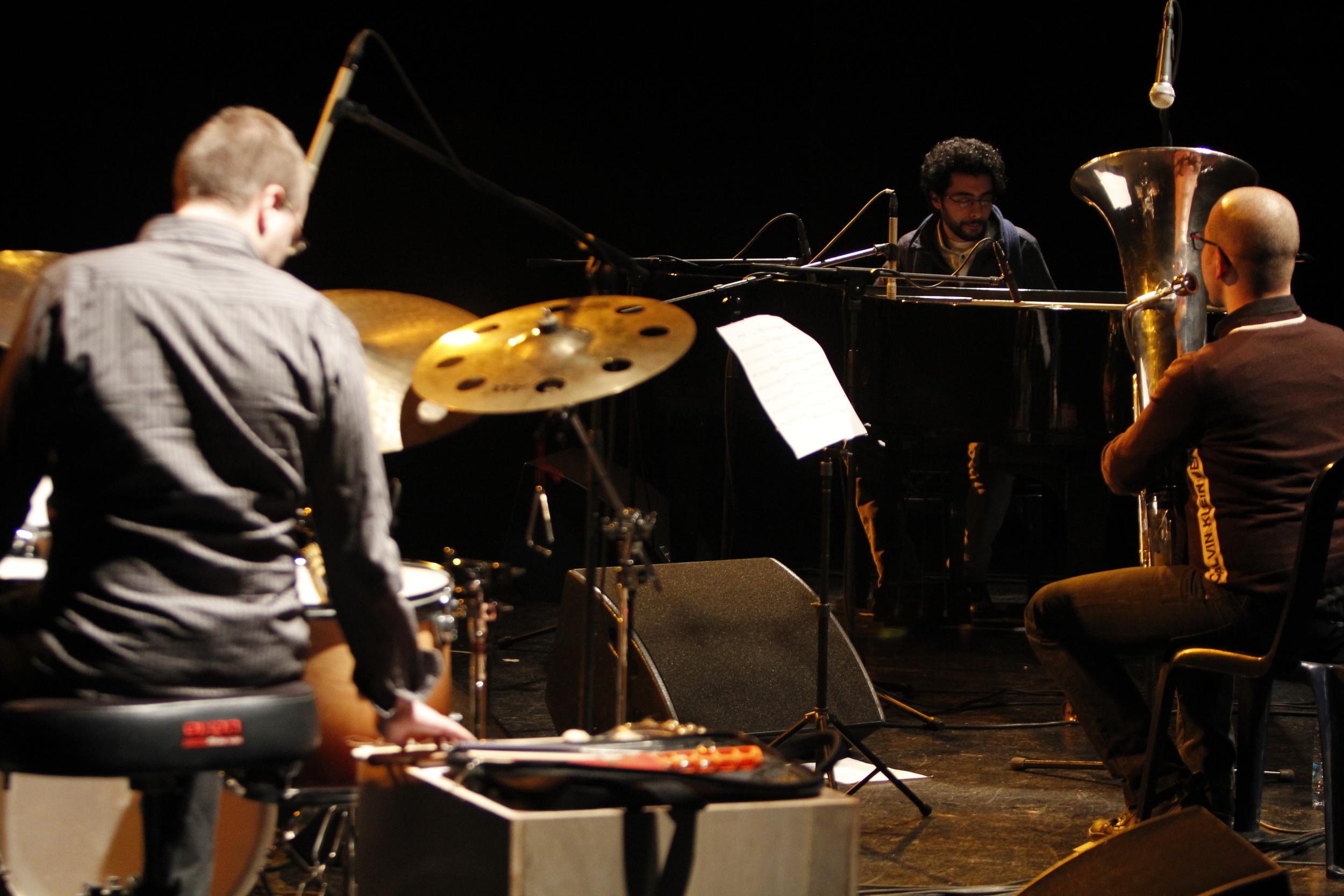 Sunflower Theater - Beirut /photo by Houssam Mchaimech Tarek Yamani, Goran Krmac, Kristijan Krajncan