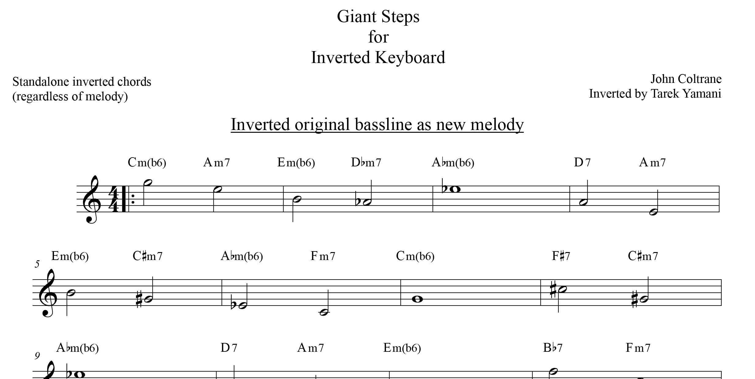 Fig. 2 [lead sheet, best for upside down improvisation]