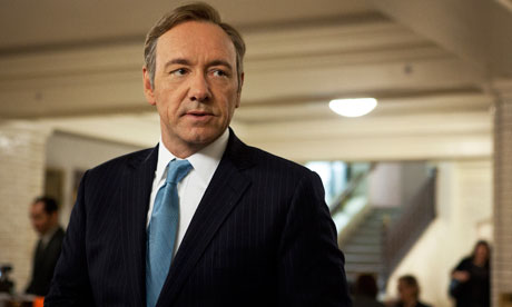 Kevin Spacey as Francis Underwood in House of Cards: 'As Francis might  say, 'if we have to call ourselves anything then aren't we all just  storytellers?' Photograph: Melinda Sue Gordon/AP