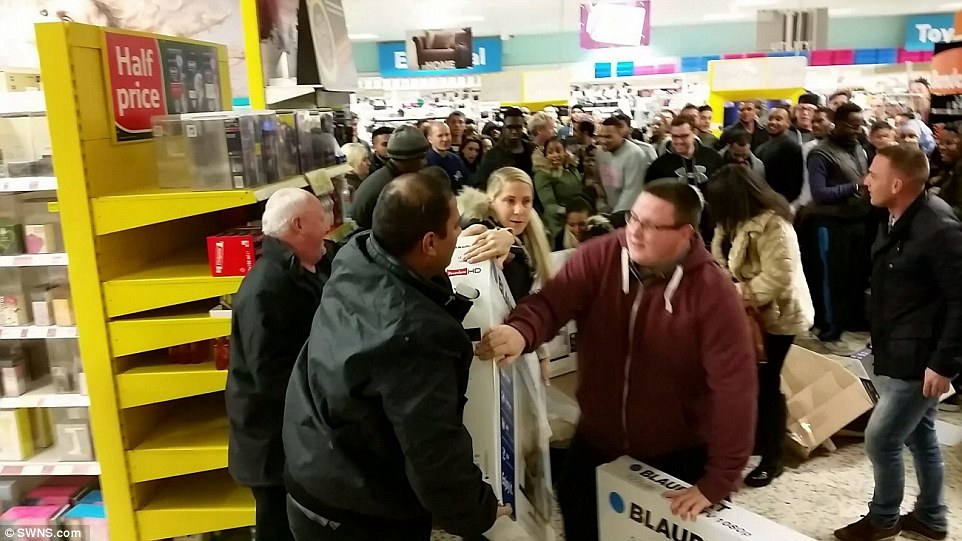 Tesco, Eastville, Bristol 2014 . The disagreement was just one of many which unfolded in Tesco stores across the country as shoppers desperately tried to get their hands on some of the Black Friday bargains.  Read more