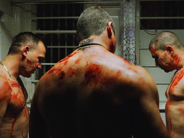 Albanian gang represent the violence within the film