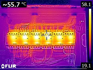 Image - Overheating lighting contactors installed wrongly with manufacturers guidelines ignored