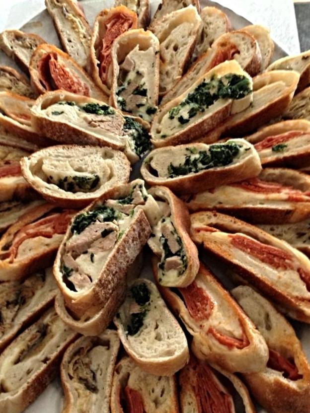 Assortment of Stuffed Breads
