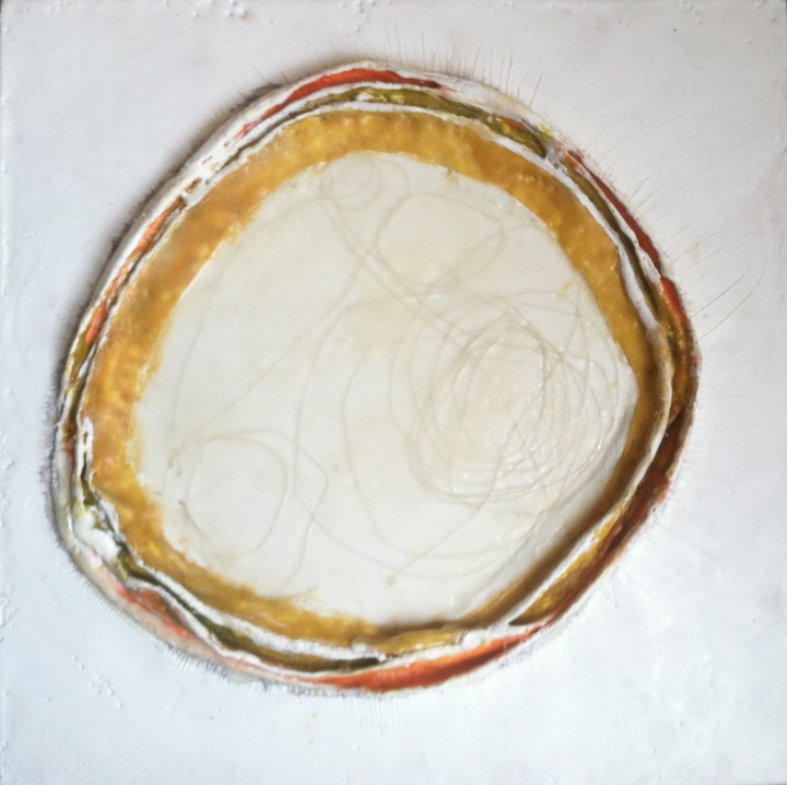 mixed media... encaustic & plaster