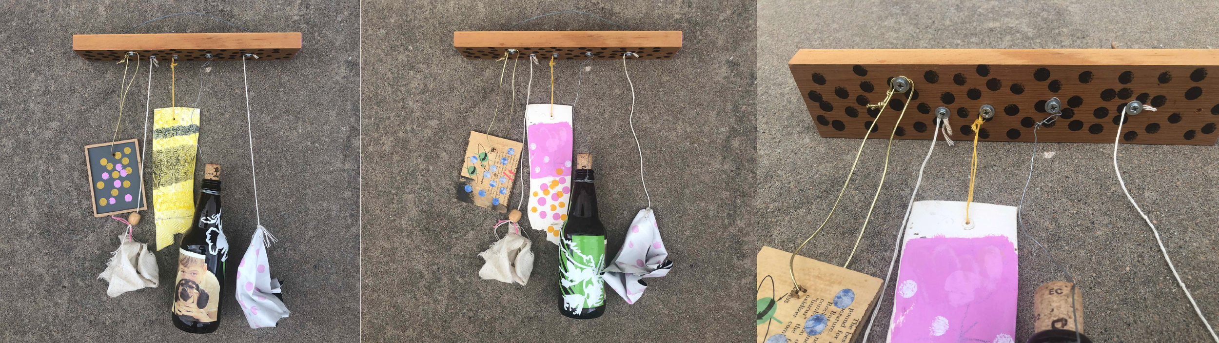 """10 HOS UNTITLED"" 2018 DIMENSIONS VARIABLE- FOUND CLIPPINGS, PREPARED CLIPPINGS, MIXED MEDIA ON FOUND OBJECTS - $80 (REG. $150)"