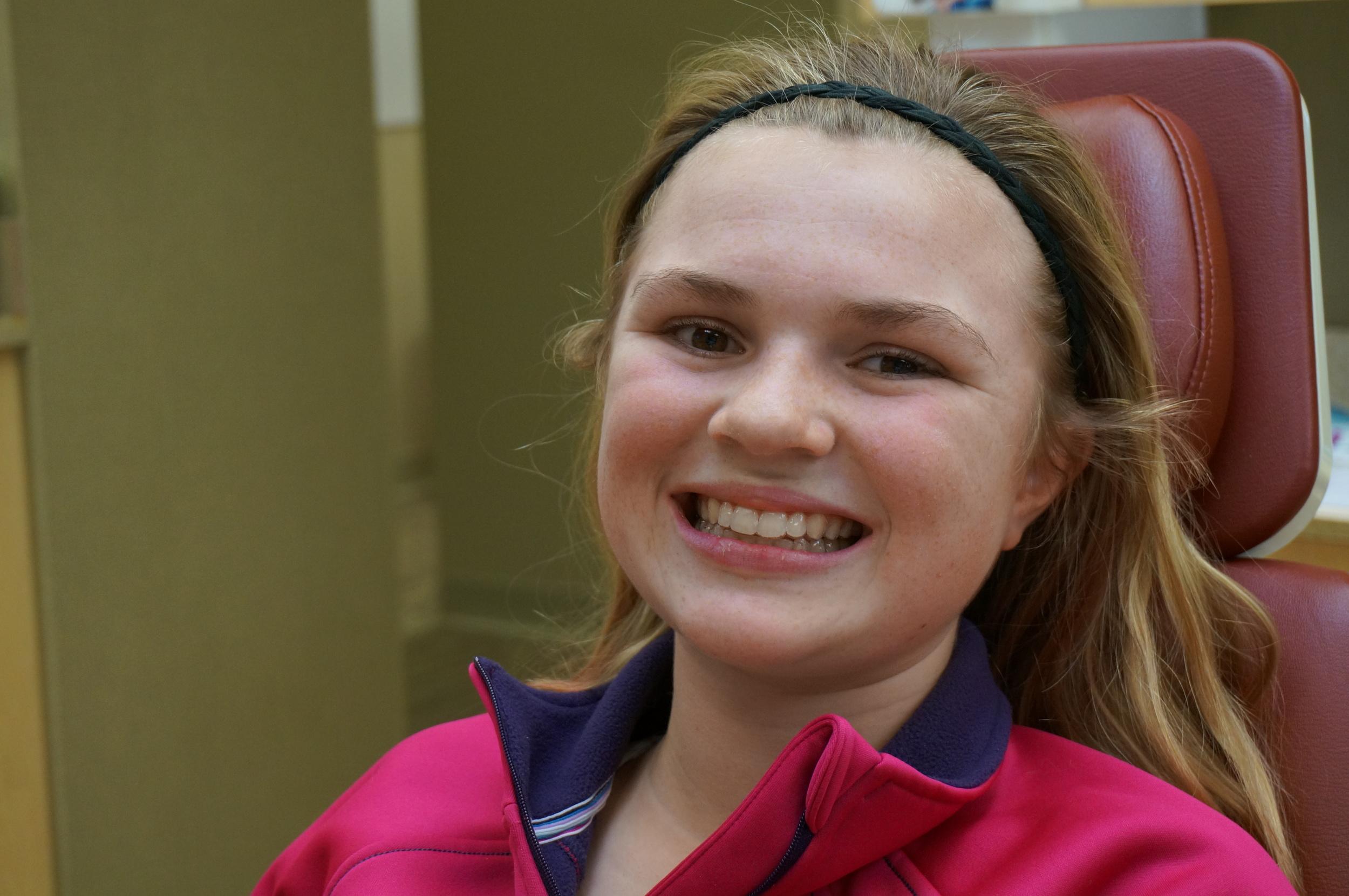 Invisalign Teen patient Karlee wearing her aligners