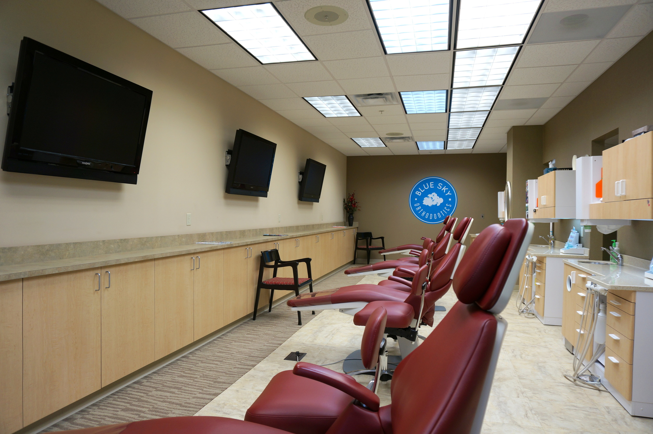 Our treatment bay with your favorite shows