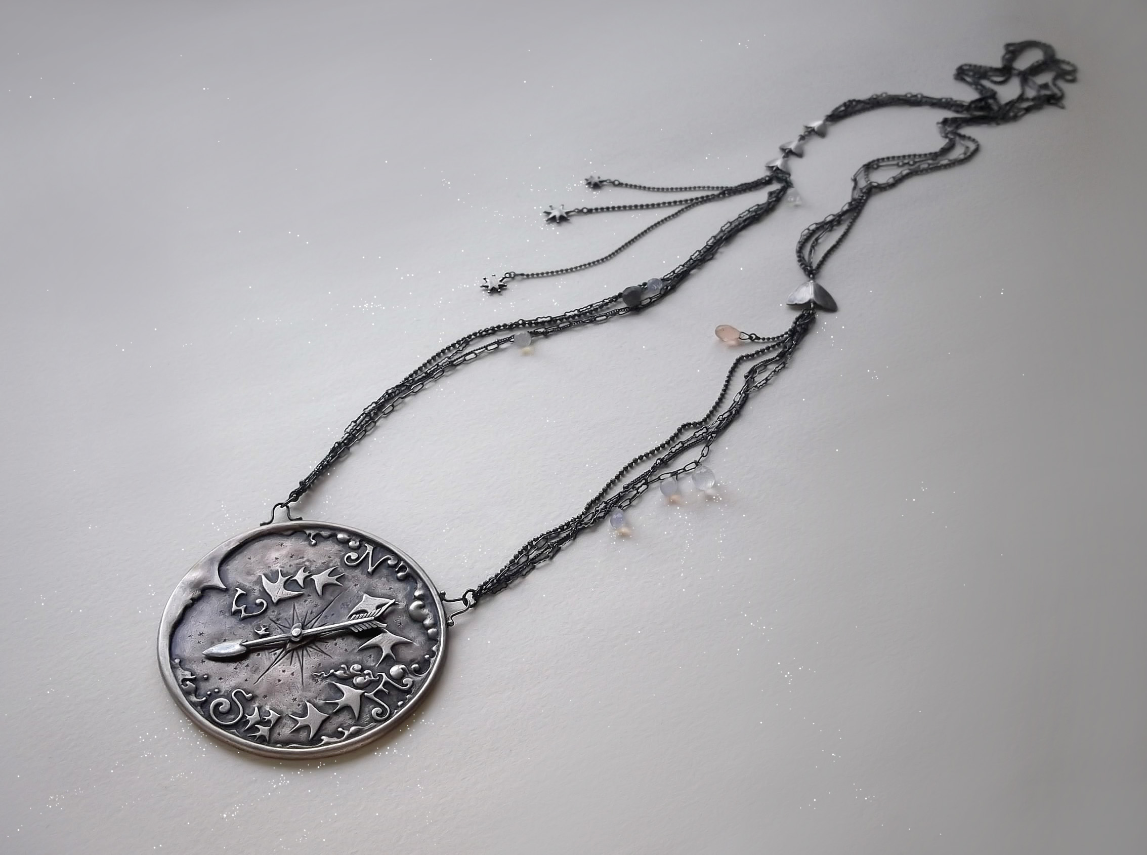 Compass Necklace detail