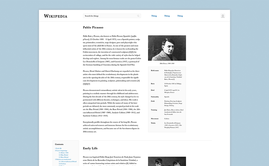 Wikipedia Redesigned   Adding simple features to improve Wikipedia's user experience.