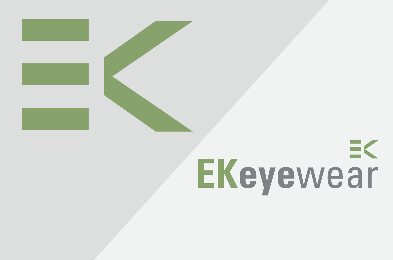 Brand design for EK eyewear, Belfast