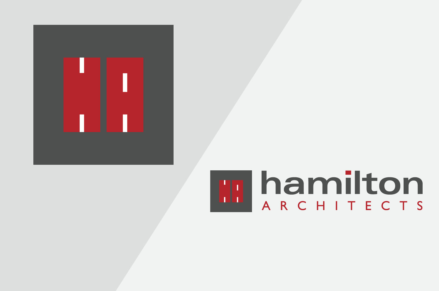 Brand identity design for Hamilton Architects, Belfast